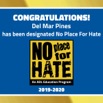 Del Mar Pines is a No Place for Hate® School