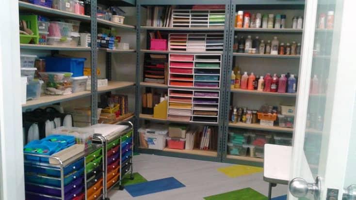 Art supply room