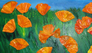 California Wild Poppies painting